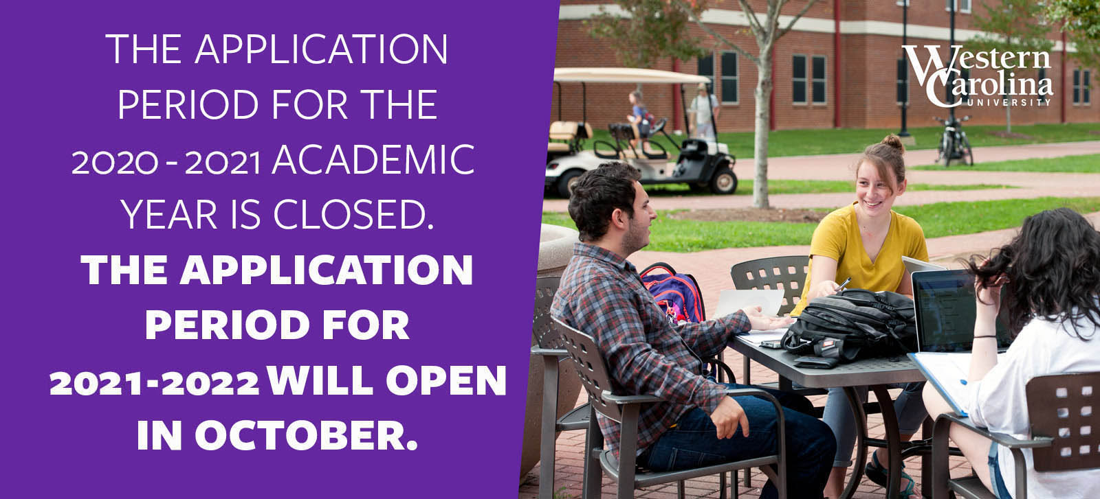 The application period for the 2020-2021 academic year is closed. The application period for 2020-2021 will open in october.