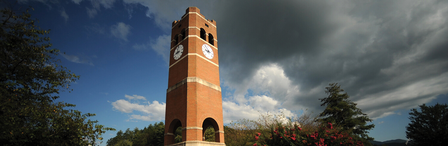 Image of the iconic Alumni Tower on WCU's main campus